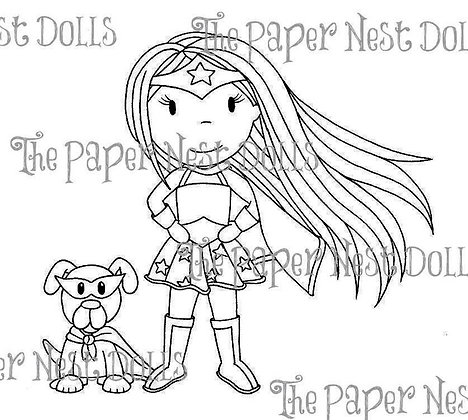 Paper Nest Dolls - Superhero Avery