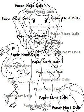 Paper Nest Dolls - Fun In The Sun Ellie