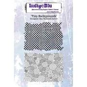 Indigo Blu Stamp Set - Tiny Backgrounds
