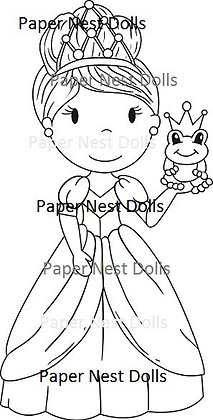 Paper Nest Dolls - Frog Princess