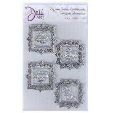 Dali Art Stamp Set - Square Frame Sentiments