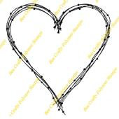 Bee Crafty Backdrops Frame Stamp  - Wire Large Heart