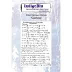 Indigo Blu Background Stamp - Calculus