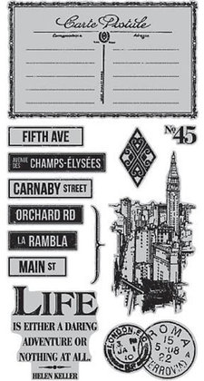 Graphic 45 Stamp Set - Cityscapes 3