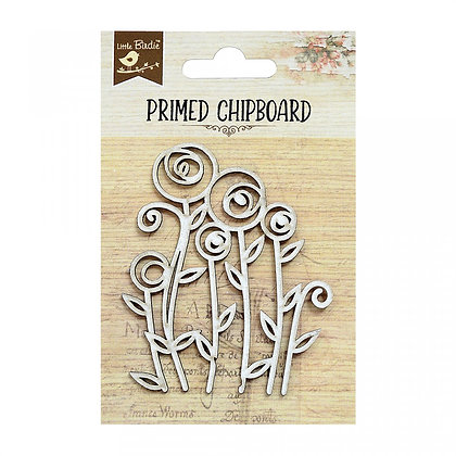 Little Birdie Chipboard  - Primrose