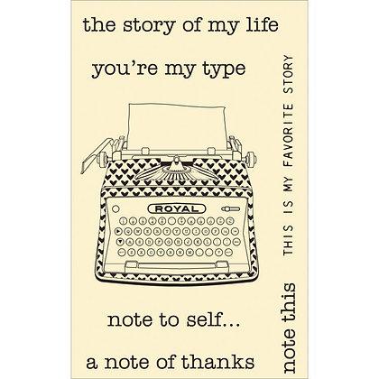 Hampton Arts Stamps - Typewriter