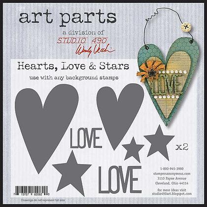 Studio 490 Art Parts Kit - Hearts, Love & Stars