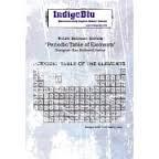 Indigo Blu A6 Rubber Stamp - Period Table