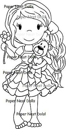 Paper Nest Dolls - Avery Holding Teddy