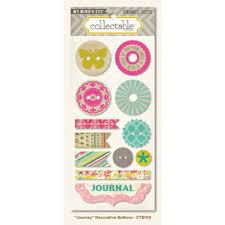 "My Mind's Eye Decorative Buttons - Memorable ""Journey""."