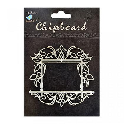 Little Birdie Chipboard  - Ornate Square Frame
