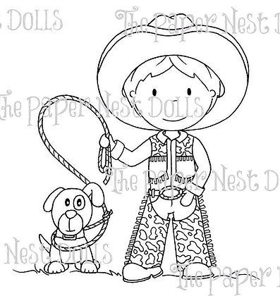 Paper Nest Dolls - Cowboy