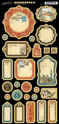 Graphic 45 Chipboard - Cityscapes 1