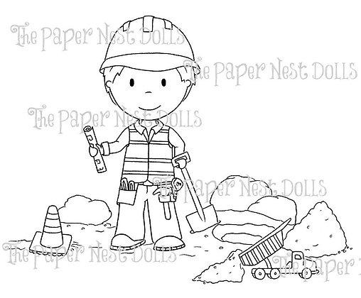Paper Nest Dolls - Construction Owen