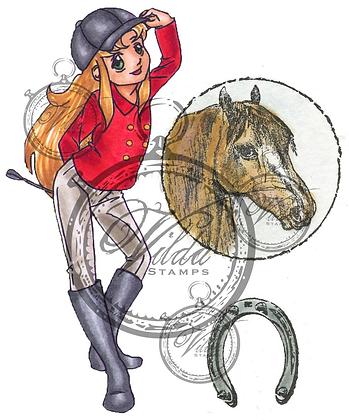 Vilda - Rider Hannah, Horse Head and Horseshoe