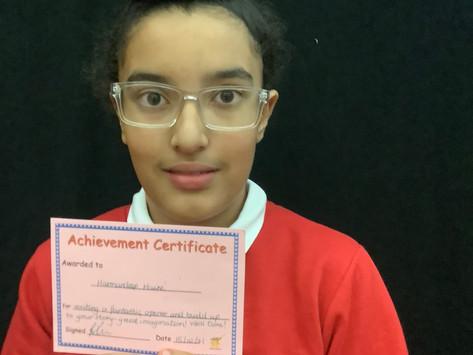 Half Term Achievement Winners