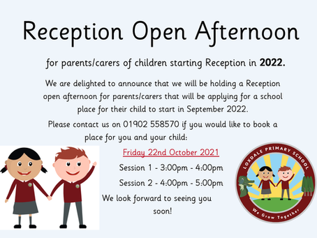 Reception Open Afternoon