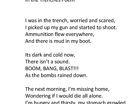 In the Trenches Poem