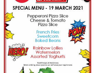 Comic Relief Red Nose Day Special Menu