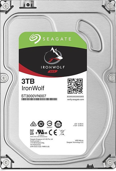 Seagate IronWolf NAS HDD 3TB, SATA 6Gb/s (ST3000VN007)