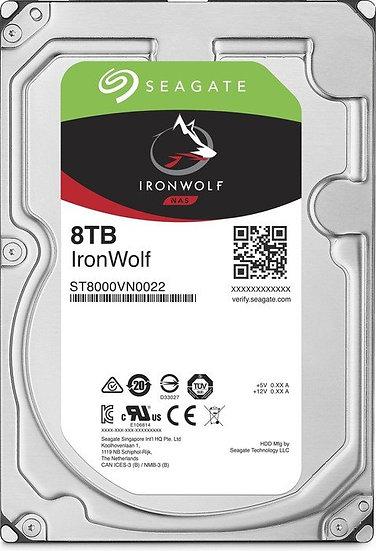 Seagate IronWolf NAS HDD 8TB, SATA 6Gb/s (ST8000VN004)