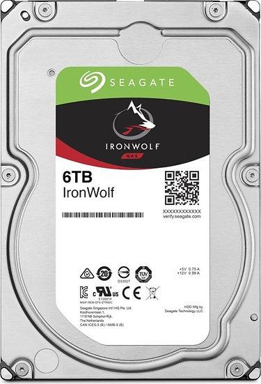 Seagate IronWolf NAS HDD 6TB, SATA 6Gb/s (ST6000VN001)