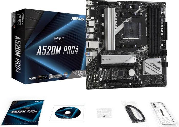 ASRock A520M Pro4 (90-MXBDU0-A0UAYZ)