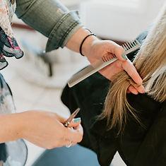 Women Getting Her Hair Cut At A Marysville WA Salon