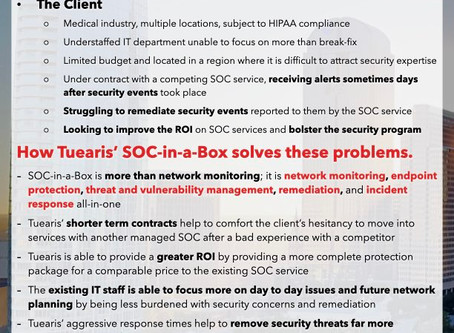 SOC-in-a-Box Client Experience