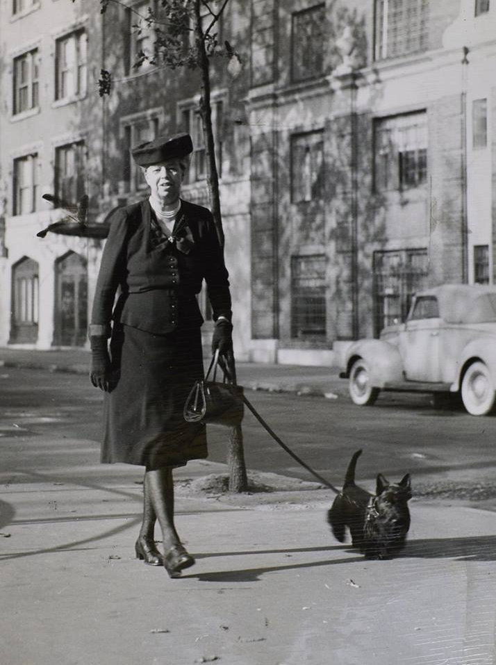 Eleanor Roosevelt with Fala - New York_.