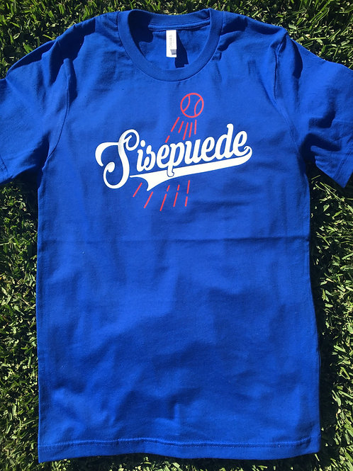 Los Angeles Baseball T-shirt - Si Se Puede - Yes We Can