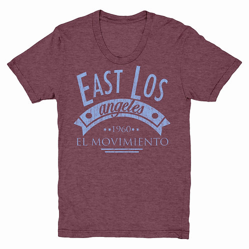 El Movimiento en East Los EAST L.A. T-SHIRT
