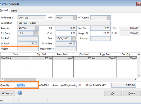 SOP Partial Deliveries/Invoices. How to part deliver/invoice a sales order in Pegasus Opera 3?