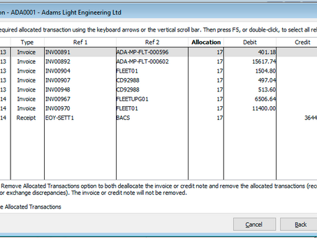 Rectify Allocations and Removing Allocated Receipts o Refunds