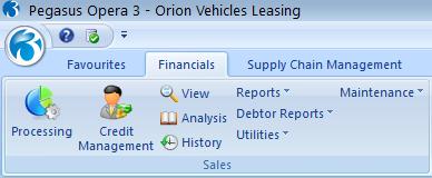 Setting Credit Management Terms in Pegasus Opera 3