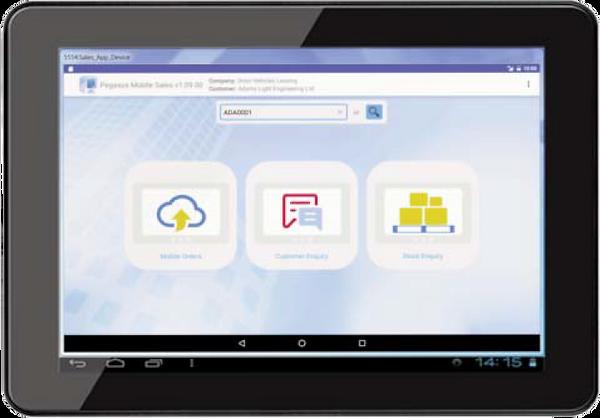 Pegasus Opera 3 Mobile sales app