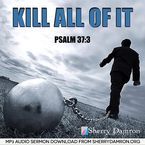 """""""Kill All Of It"""" (MP3 SERMON DOWNLOAD)"""