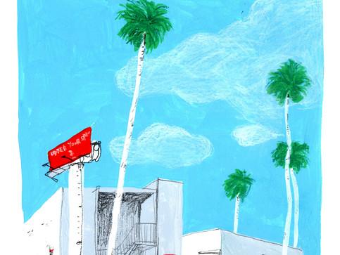 Gouache Doodle-Palm Tree