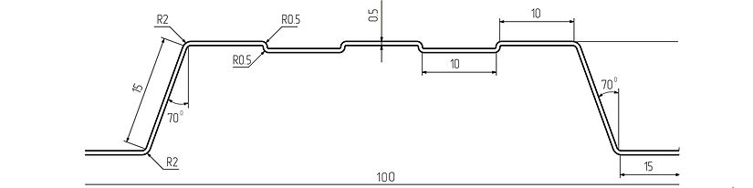 чертеж и размеры евроштакетника