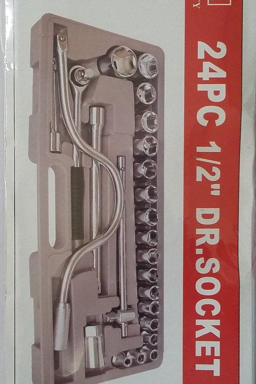 JUEGO DE COPAS CON RATCH DE 8 A 32 mm  25 PIEZAS