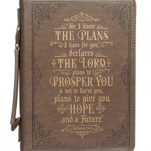 Faux Leather Bible Cover - I Know the Plans