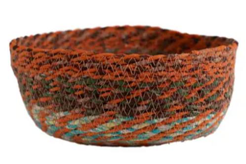 Swirling Sari Basket - large
