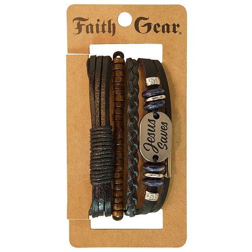 Faith Gear Christian Bracelet Jesus Saves