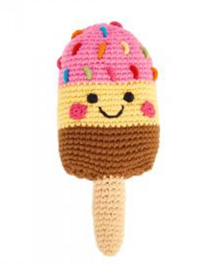 Friendly Ice Lolly Rattle - Pink