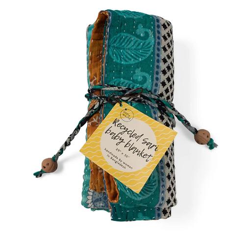Recycled Sari Baby Blanket