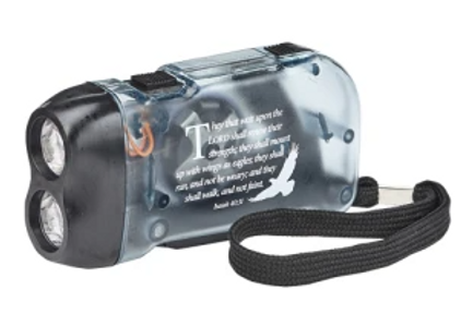 Isaiah 40:31 Pump Flashlight