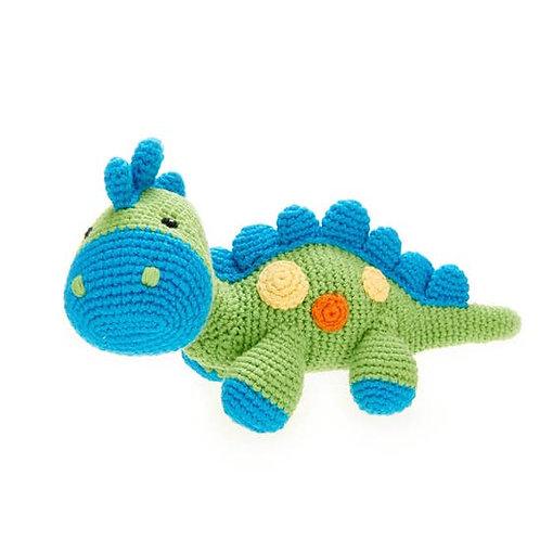 Green Steggy Dinosaur Rattle