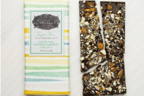 Sugar Free Chocolate with Almonds, Cocoa Nibs, Sea Salt
