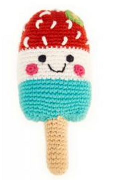 Friendly Ice Lolly Rattle - Red