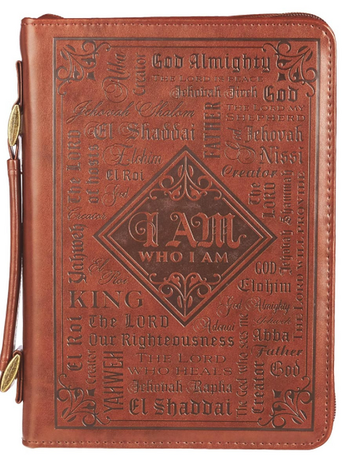 Names of God Brown Faux Leather